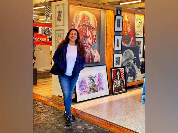 Juhi Chawla walks down 'colourful' street in Cape Town, calls it 'a creative high'