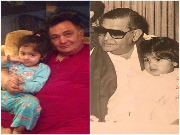 Neetu Kapoor shares throwback photos of Rishi Kapoor and Raj Kapoor as grandfathers