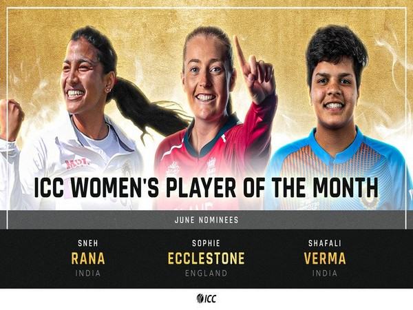 ICC Player of the Month: Shafali, Ecclestone, and Jamieson highlight June nominations
