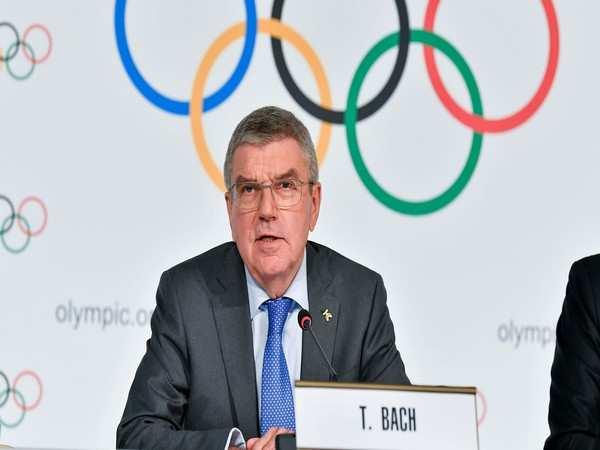 IOC President Thomas Bach visits Tokyo 2020 headquarters