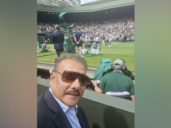 Ravi Shastri in attendance for Djokovic-Berrettini Wimbledon final clash