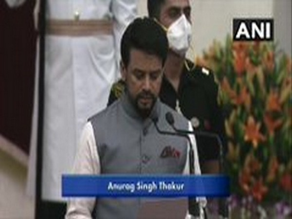 Anurag Thakur elevated as cabinet minister, takes oath of office at Rashtrapati Bhavan