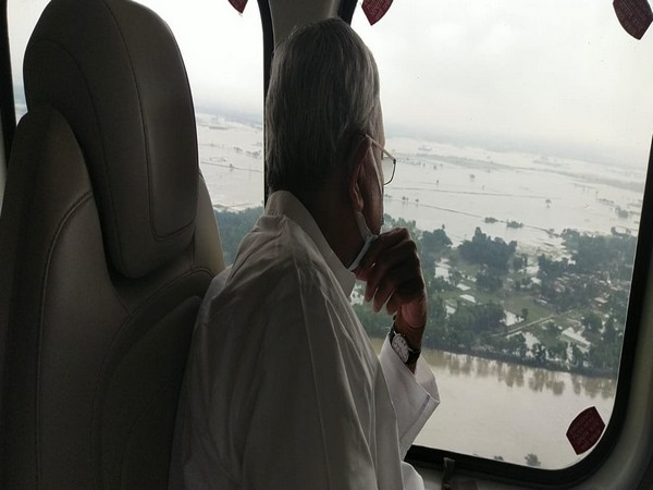 Bihar CM conducts aerial survey of flood-affected areas
