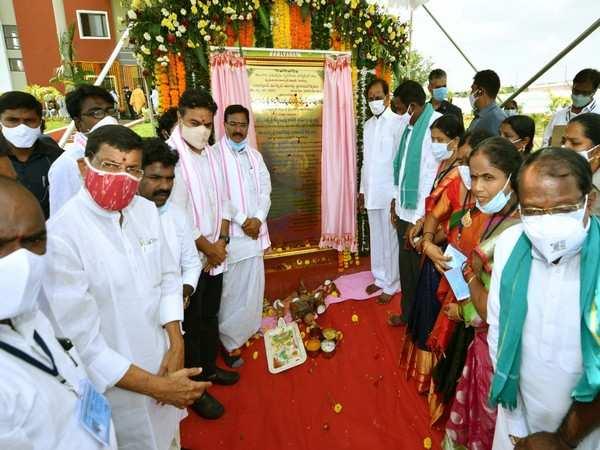 Telangana CM inaugurates 1320 2BHK flats for poor in Sircilla