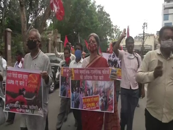 Stan Swamy's death: Left parties stage protest outside Raj Bhavan in Ranchi
