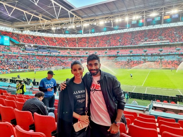 Bumrah and wife Sanjana attend Euro 2020 semis between Spain and Italy at Wembley