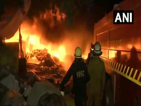 Fire breaks out in Delhi's Tikri Kalan PVC market, no casualties reported