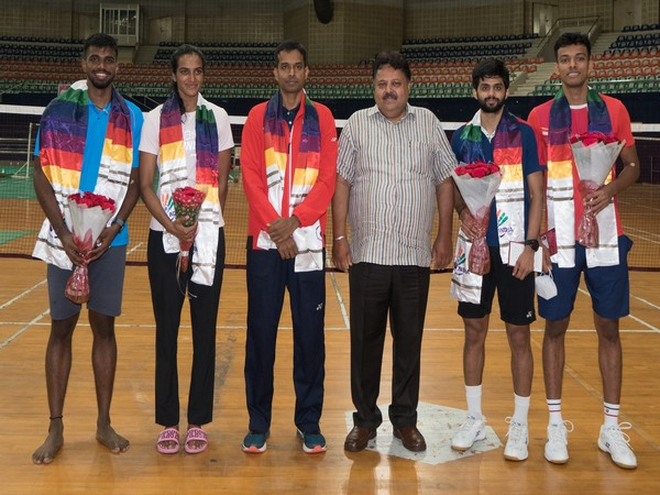 BAI General Secy interacts with Olympic-bound shuttlers
