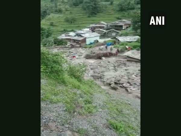Himachal Pradesh: Debris enters houses in Kullu village following flood due to heavy rainfall