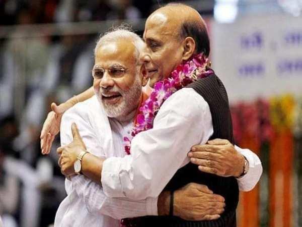 PM Modi extends birthday wishes to Rajnath Singh
