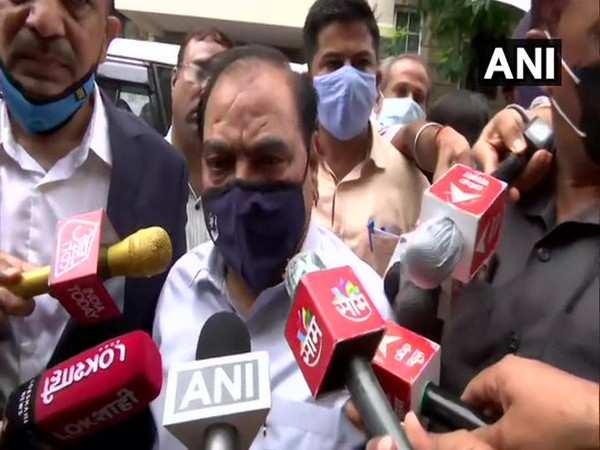 NCP leader Eknath Khadse arrives at ED office in Mumbai